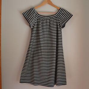 Madewell striped mini dress